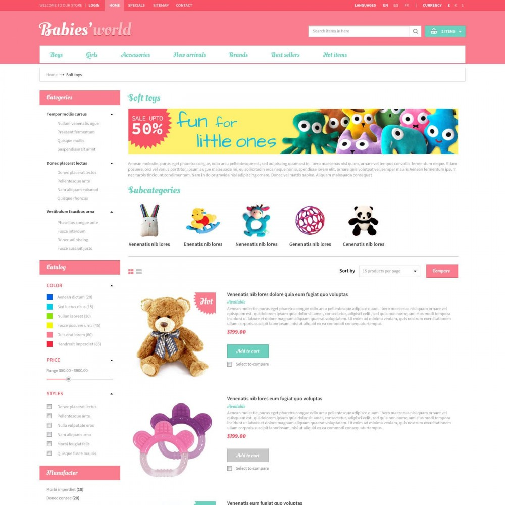 theme - Bambini & Giocattoli - Prestashop Baby Apparel Online Template - ET Babies - 3