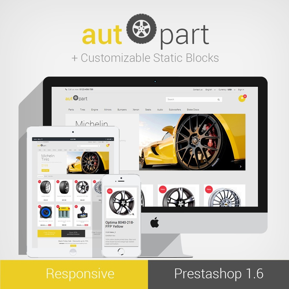 AutoPart Prestashop 1.6 Responsive Theme