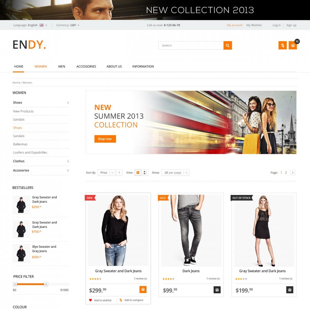 theme - Moda & Calzature - Endy - Shop of Design Clothes - 2