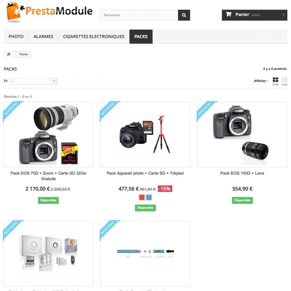 module - Ventes croisées & Packs de produits - Advanced Pack 5 - Vendez des lots de produits - 2