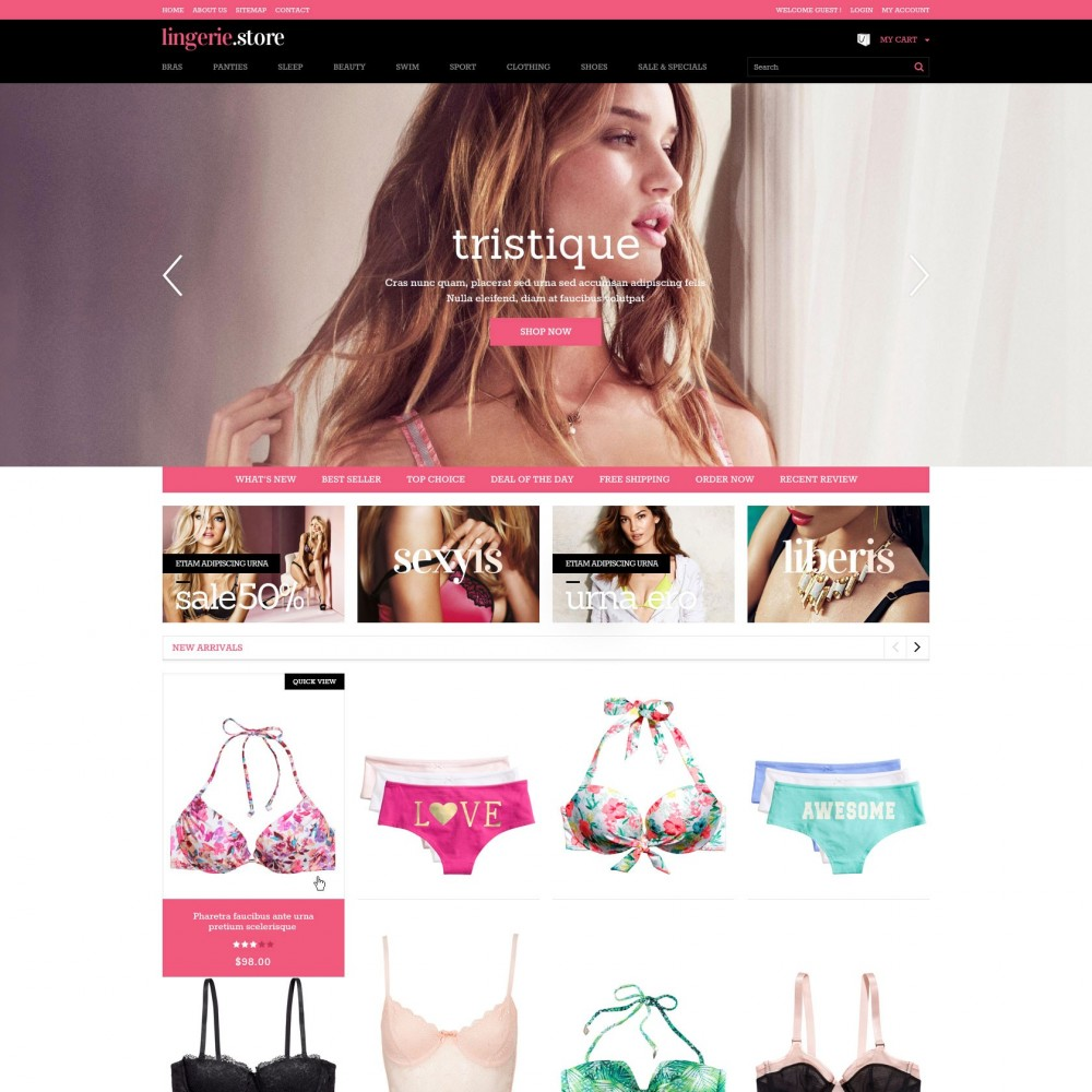 theme - Нижнее белье и товары для взрослых - Prestashop Sexy Lingerie Shop - Lingerie - 1