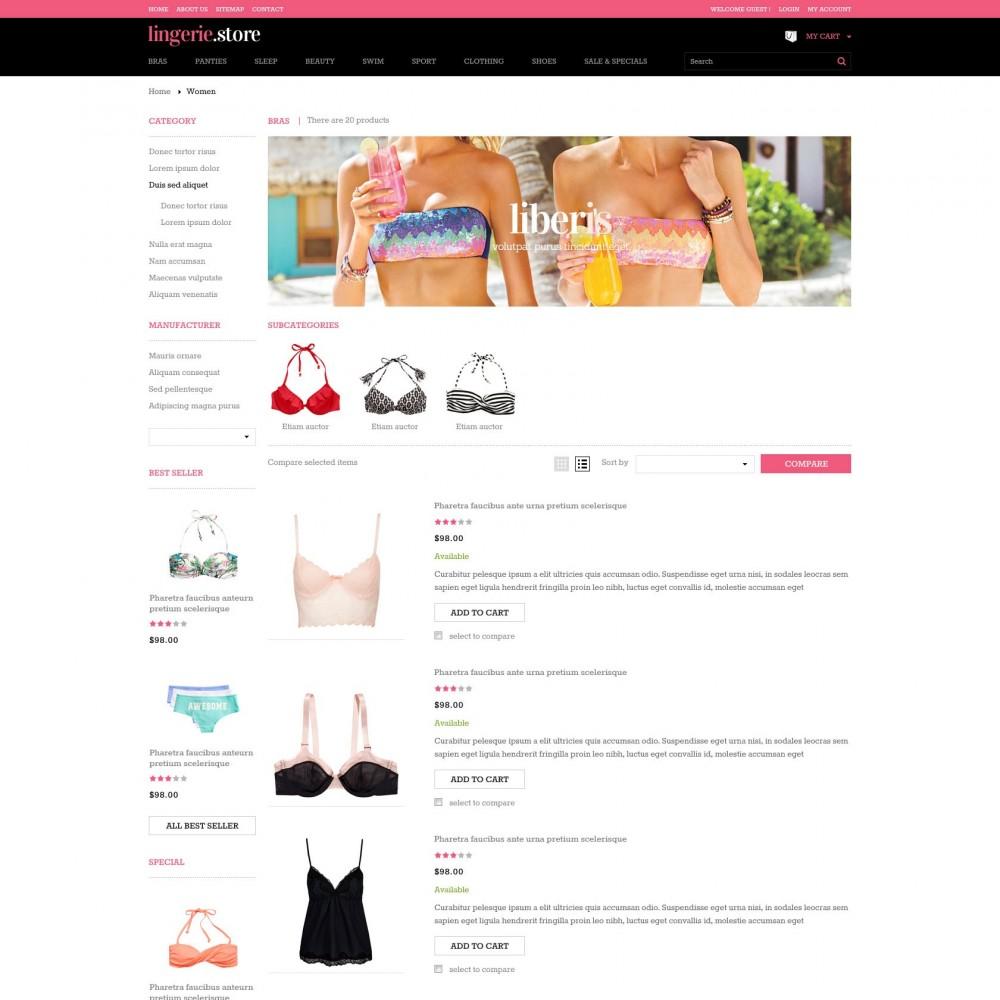 theme - Нижнее белье и товары для взрослых - Prestashop Sexy Lingerie Shop - Lingerie - 3