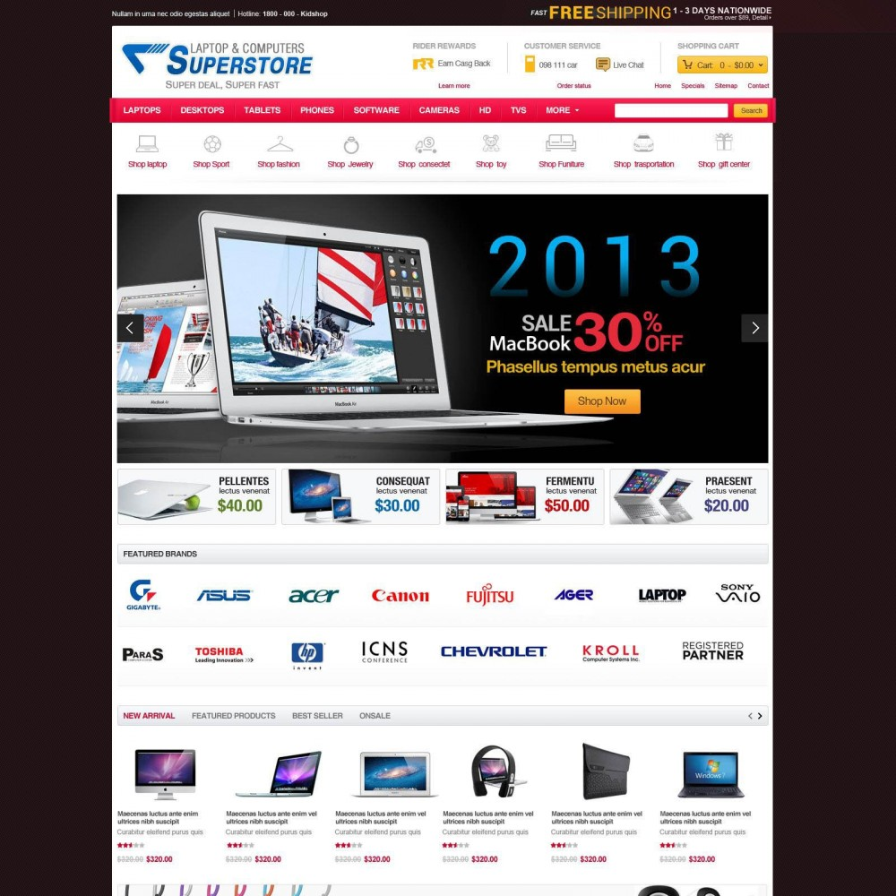 Prestashop Computer Equipment & Parts - SuperStore