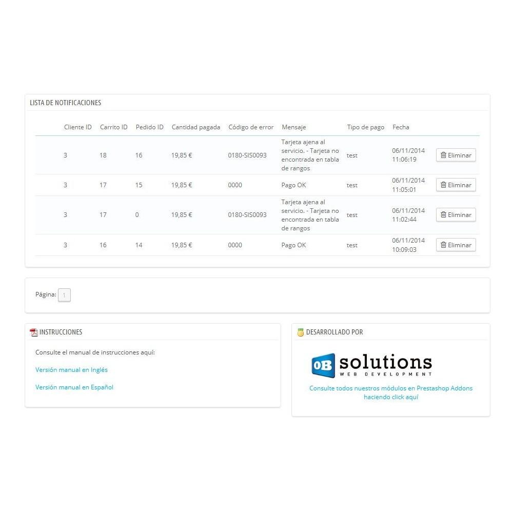 module - Pago con Tarjeta o Carteras digitales - REDSYS TPV COMPLETO (Pago seguro + Devoluciones) - 7