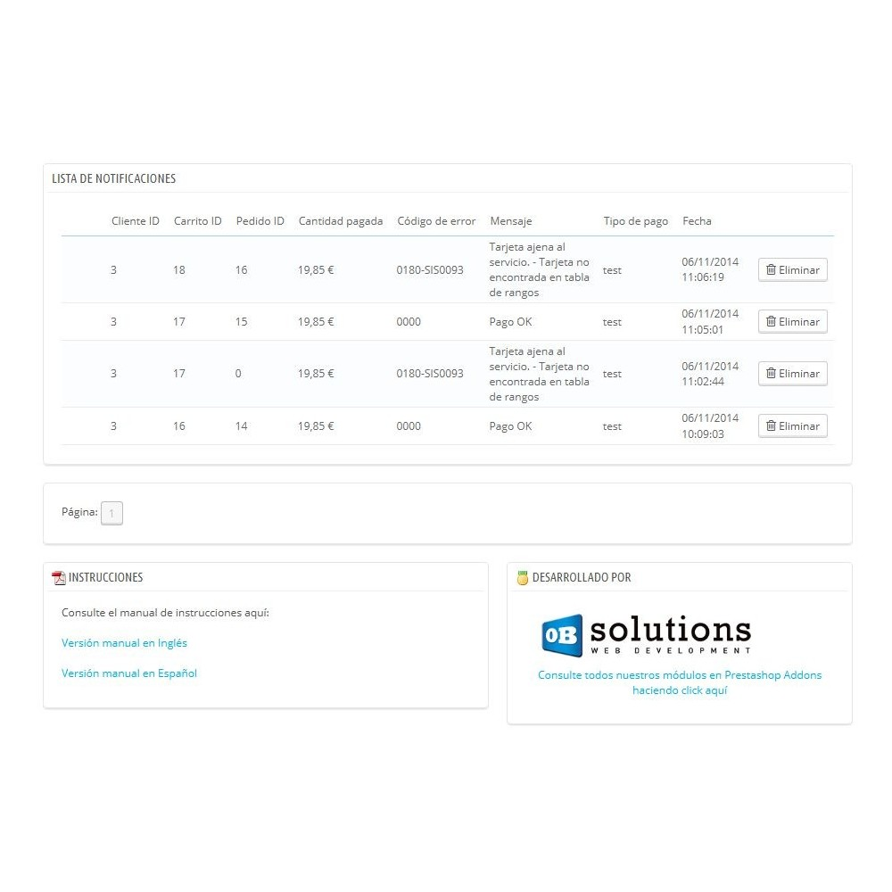 module - Pago con Tarjeta o Carteras digitales - TPV REDSYS (Devoluciones + Bizum + Pago sin pedido) - 8