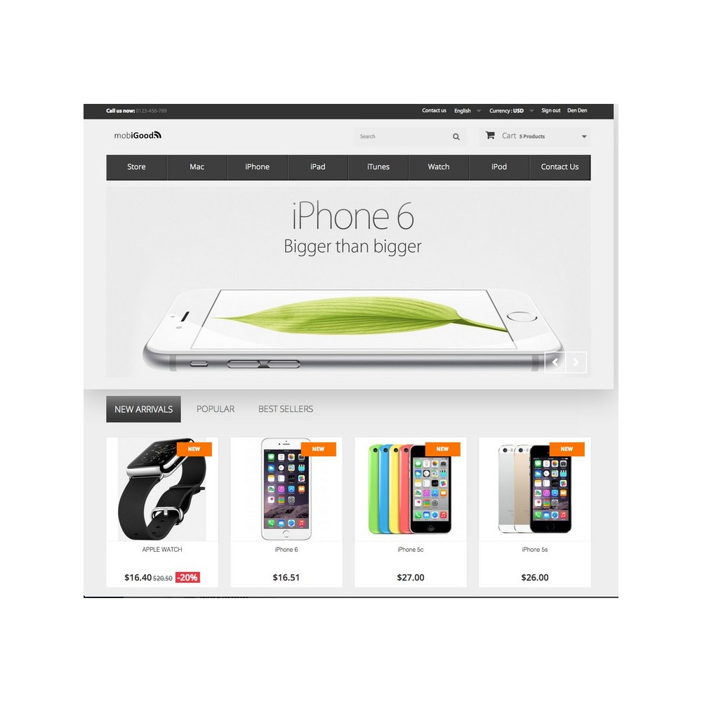 iGood Apple Mobile Prestashop 1.6 Responsive