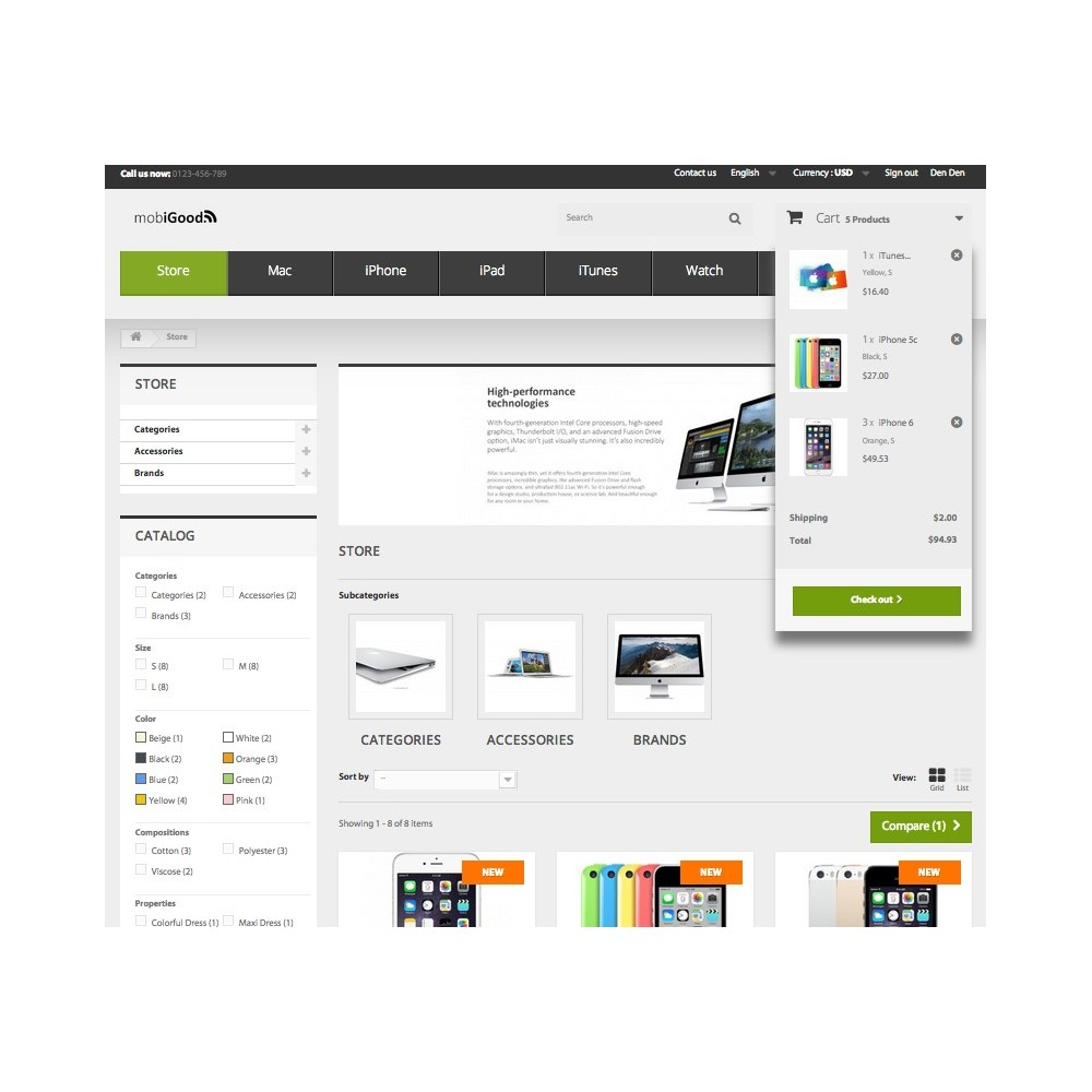 theme - Elektronica & High Tech - iGood Apple Mobile Prestashop 1.6 Responsive - 6