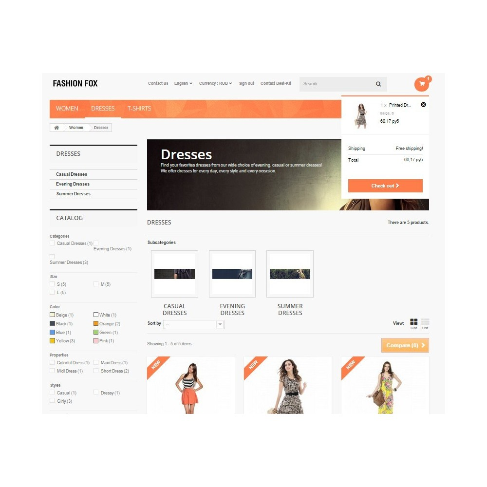 theme - Moda & Calzature - Fashion Fox Prestashop 1.6 Responsive - 3