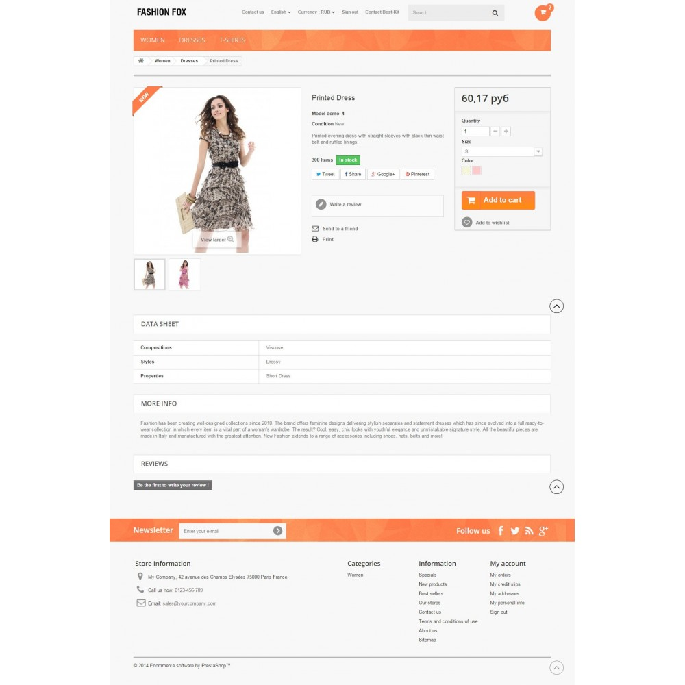 theme - Мода и обувь - Fashion Fox Prestashop 1.6 Responsive - 8