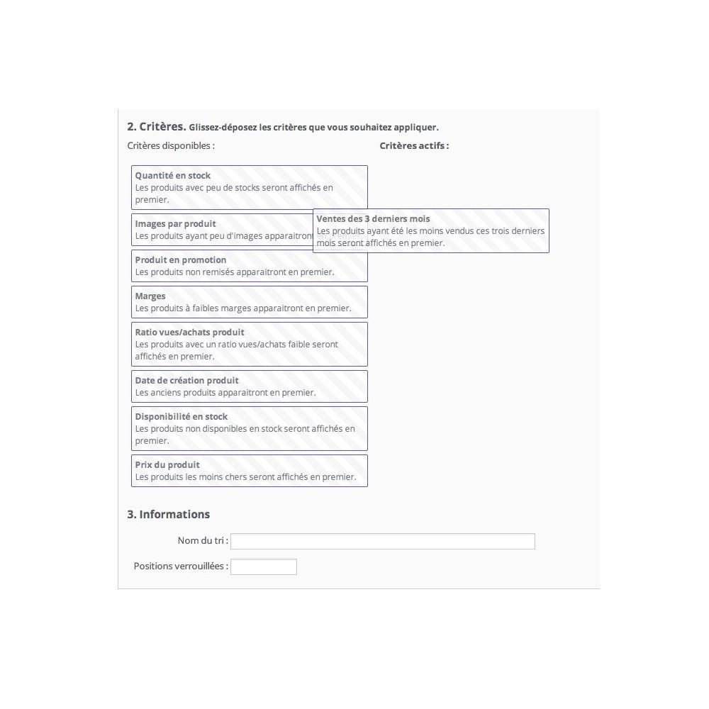 module - Outils d'administration - Positionnement automatique de vos produits - 3