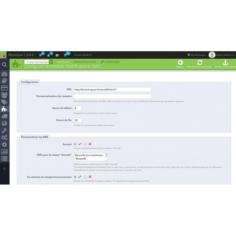 module - E-mails & Notifications - Suivi de commande par SMS - 3