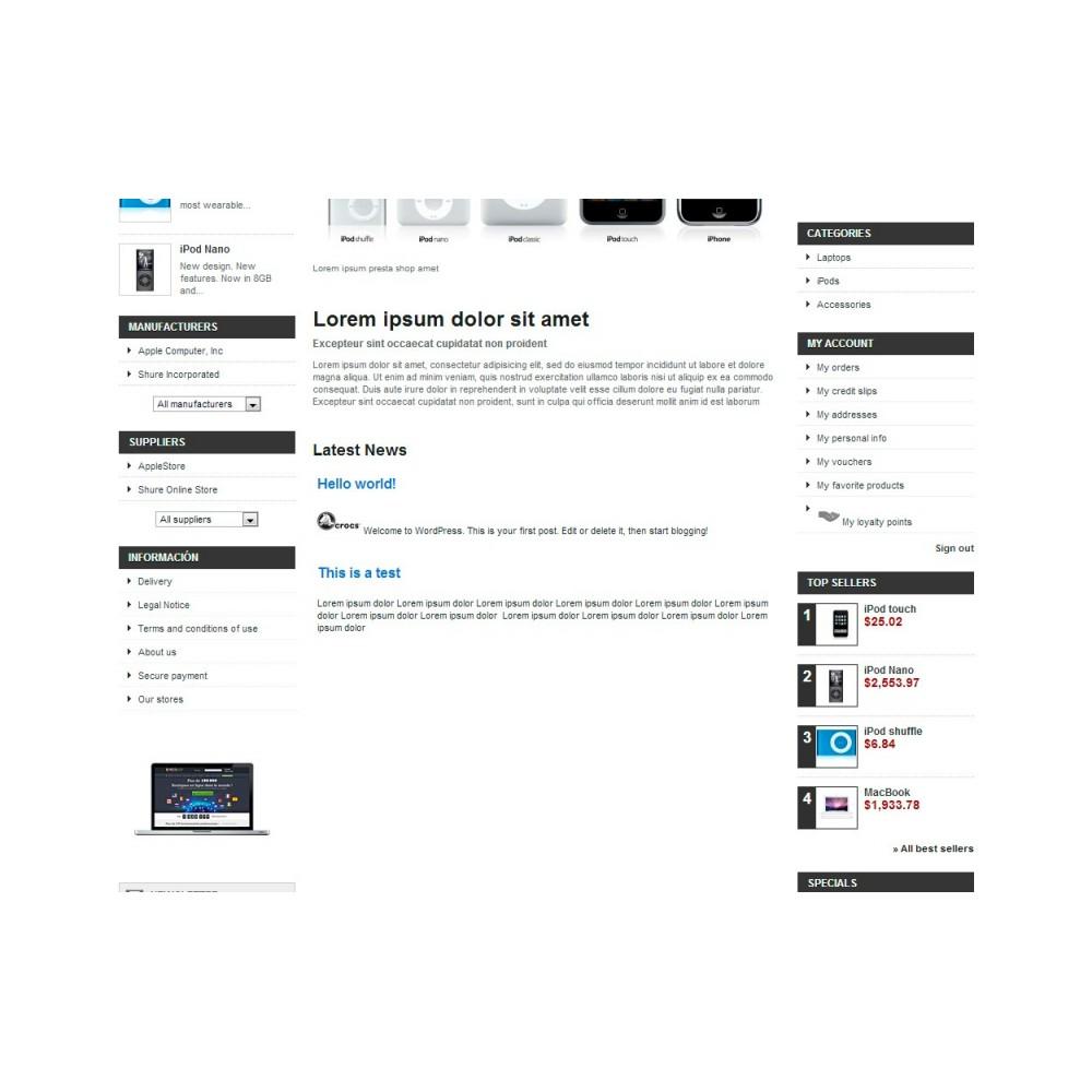 module - Blog, Foro y Noticias - Wpress - Wordpress in Prestashop - 12