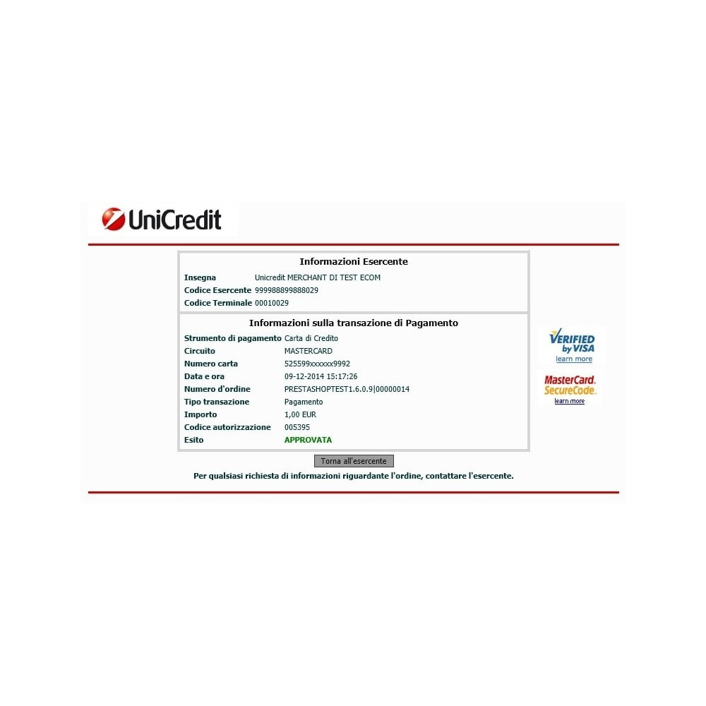 module - Payment by Card or Wallet - Unicredit PagOnline Imprese - 4