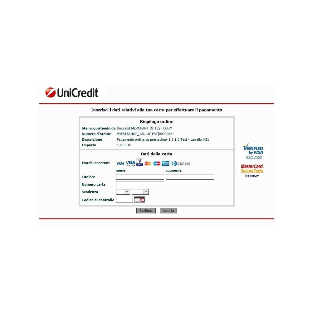 module - Pagamento por cartão ou por carteira - Unicredit PagOnline Imprese - 16