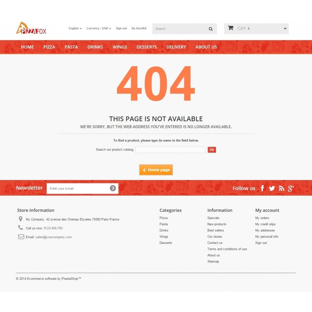 theme - Food & Restaurant - Pizza Fox Prestashop 1.6 Responsive Template - 12