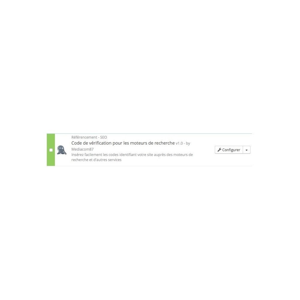 module - SEO (référencement naturel) - Prouvez que vous êtes propriétaire de votre site - 2