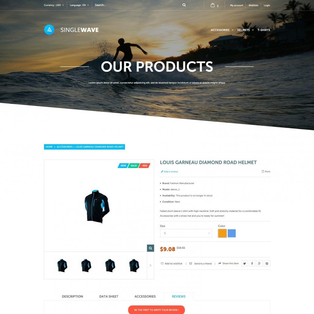theme - Sports, Activities & Travel - Singlewave - Sport Store - 3