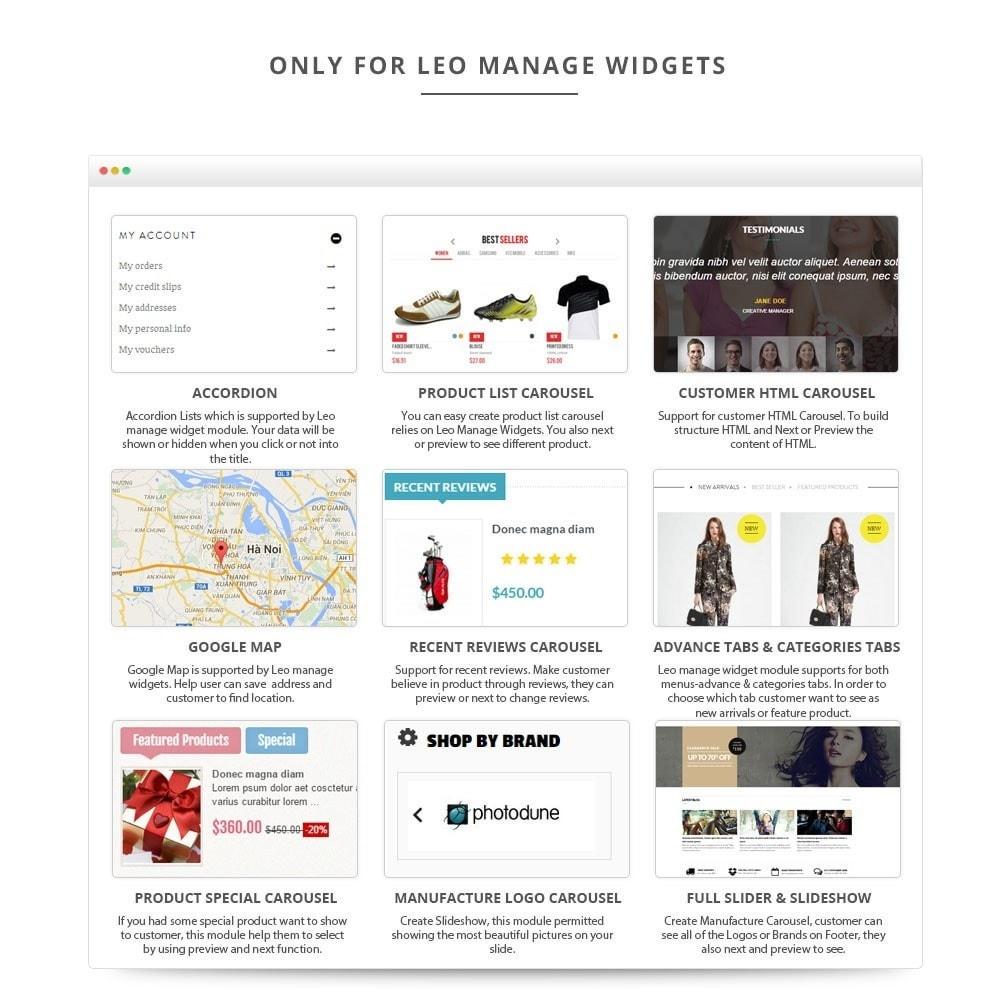 module - Individuelle Seitengestaltung - Leo Manage Widget - 4