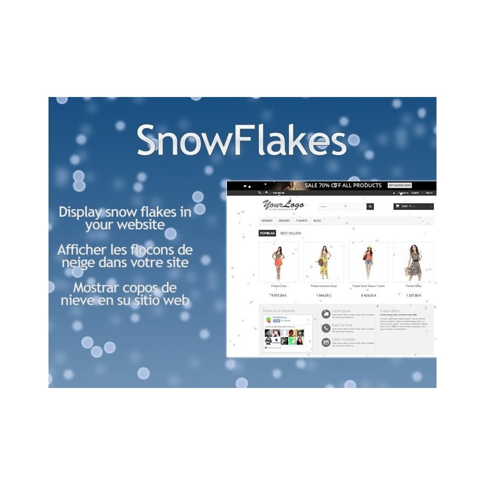 module - Personnalisation de Page - Snow Flakes / Rain of snow - 1