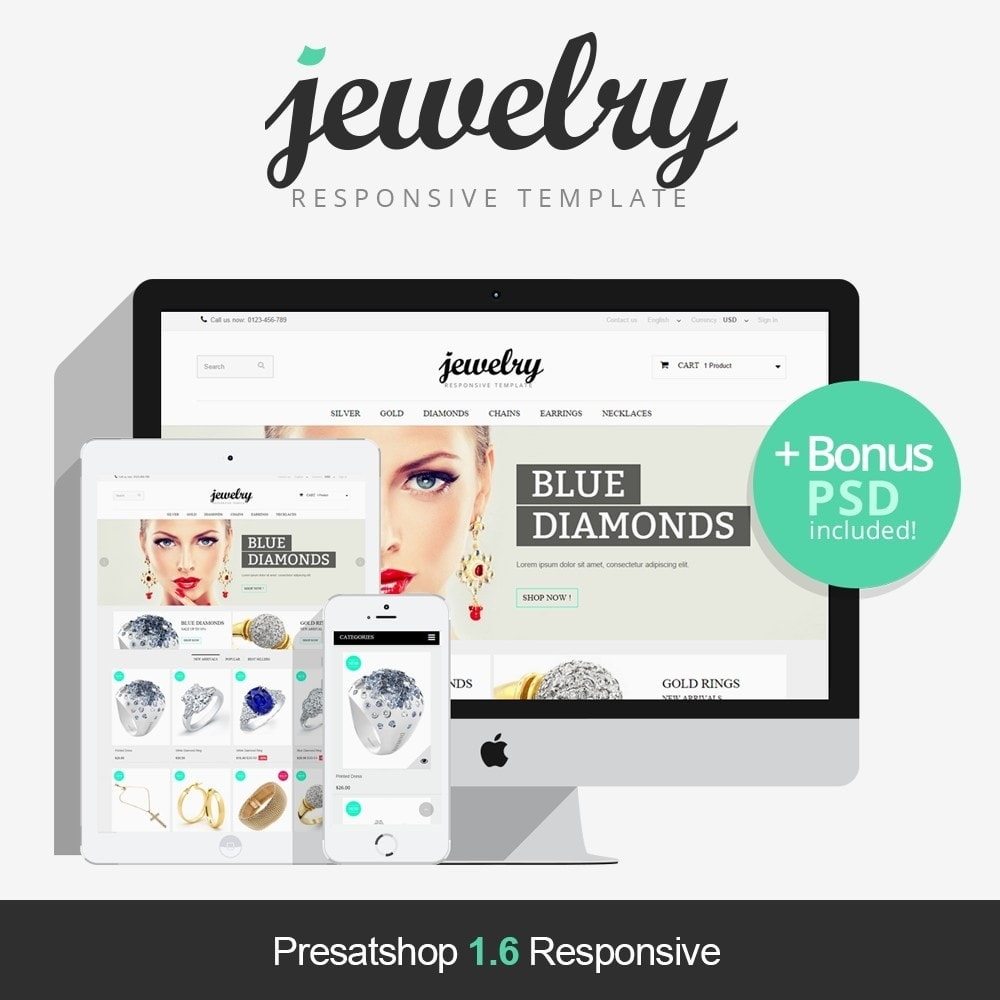 theme - Jewelry & Accessories - Jewelry Prestashop 1.6 Responsive - 1