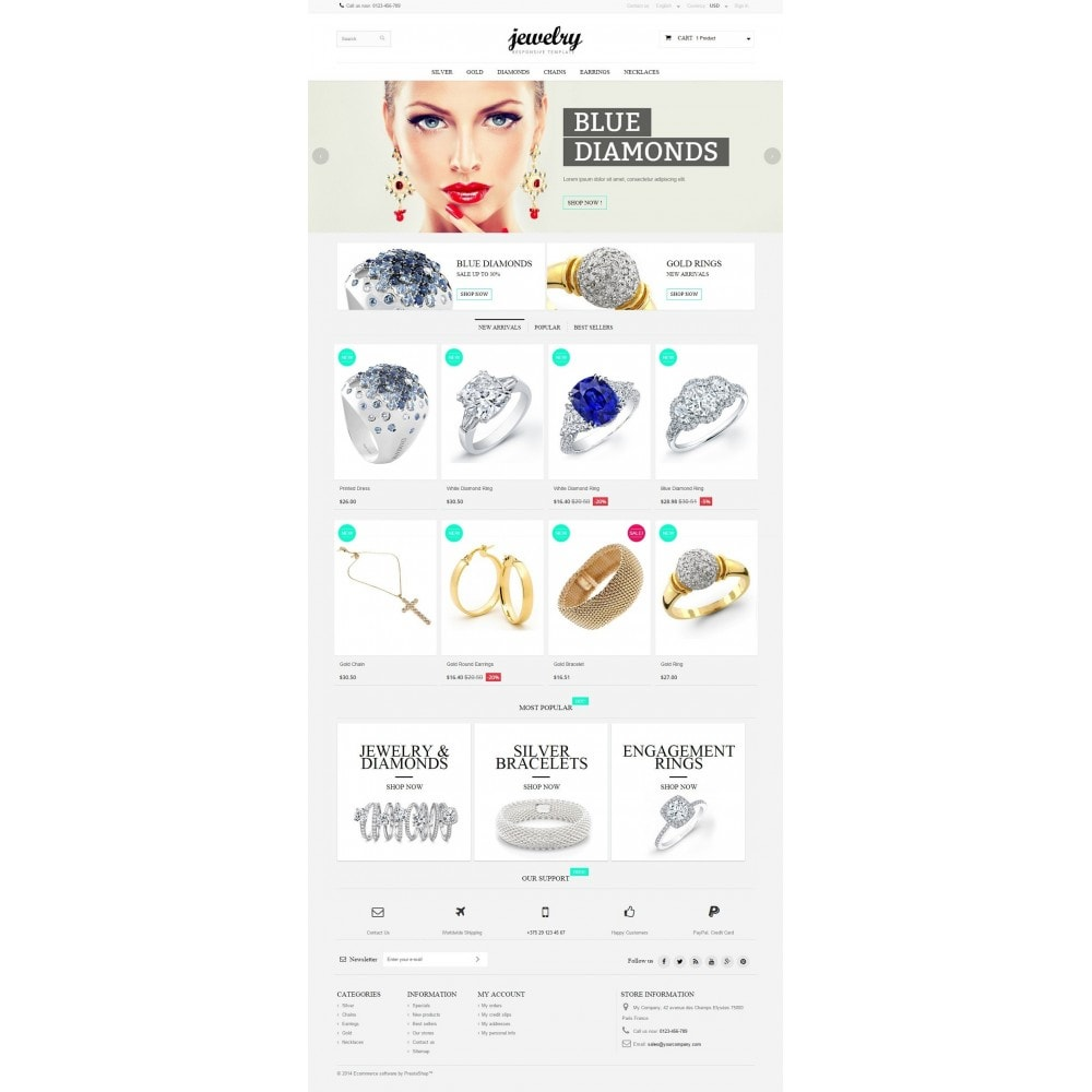 theme - Jewelry & Accessories - Jewelry Prestashop 1.6 Responsive - 2