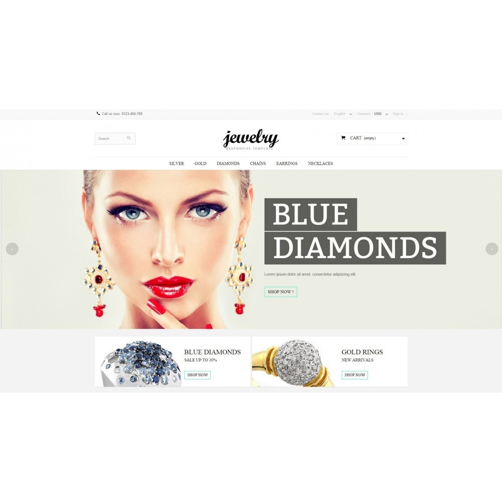 Jewelry Prestashop 1.6 Responsive
