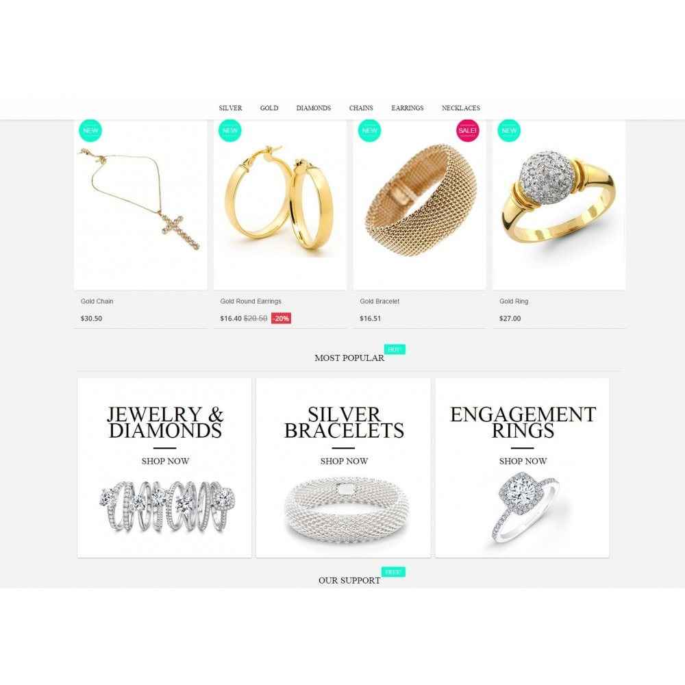 theme - Jewelry & Accessories - Jewelry Prestashop 1.6 Responsive - 4