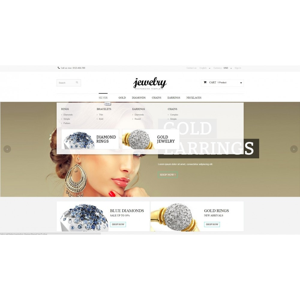 theme - Jewelry & Accessories - Jewelry Prestashop 1.6 Responsive - 5