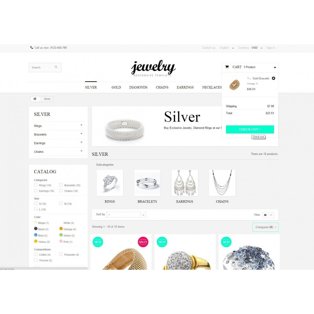 theme - Jewelry & Accessories - Jewelry Prestashop 1.6 Responsive - 6