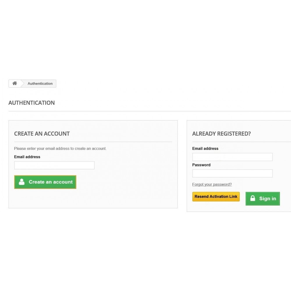 module - Anmeldung und Bestellvorgang - New Customer Email Verification and Google Recaptcha - 1