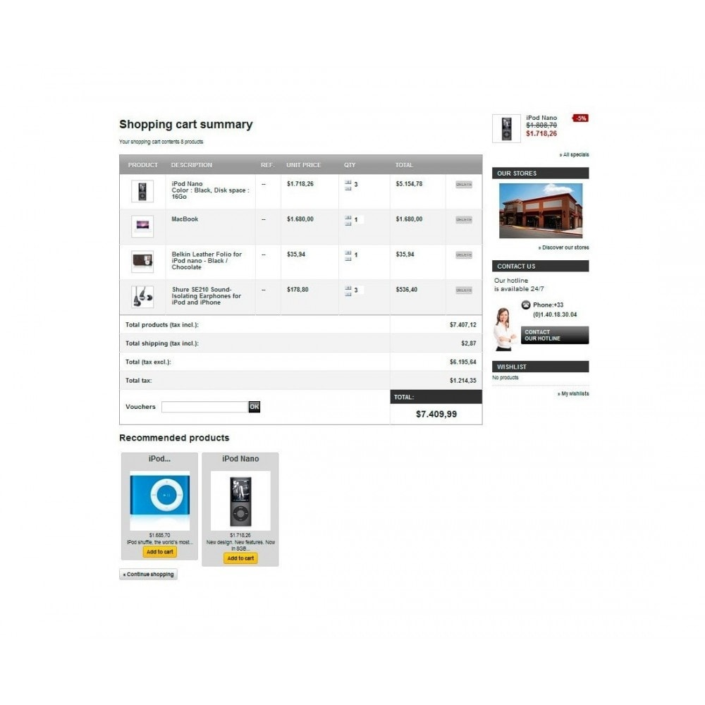 module - Ventes croisées & Packs de produits - Recommended products / Related products by ID - 7