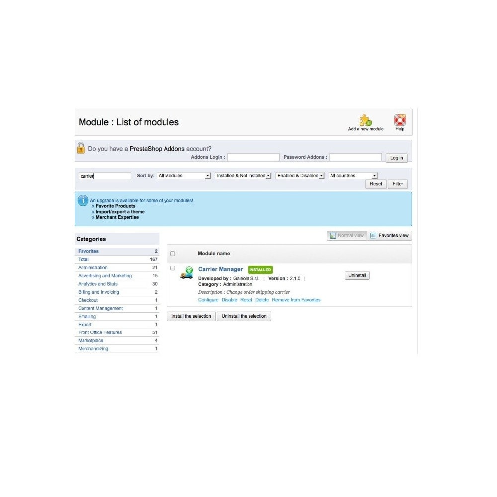 module - Transporteurs - Carrier Manager / Modifier le Transporteur - 5