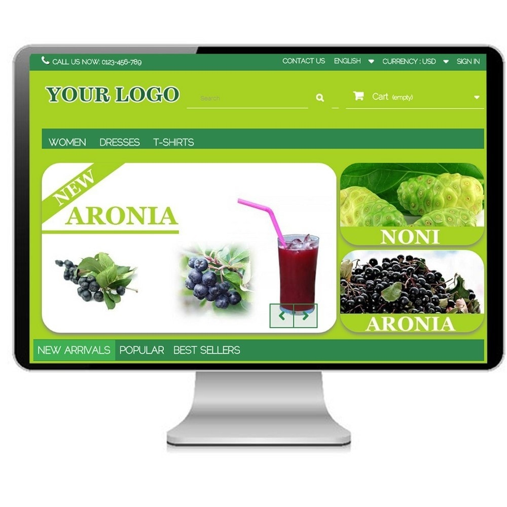 theme - Alimentation & Restauration - Super Bio, cosmetics and Medical - Prestashop - 1