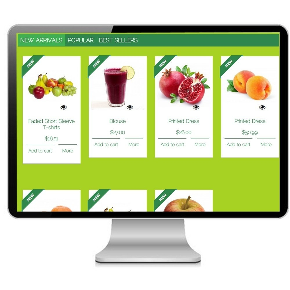 theme - Alimentation & Restauration - Super Bio, cosmetics and Medical - Prestashop - 4