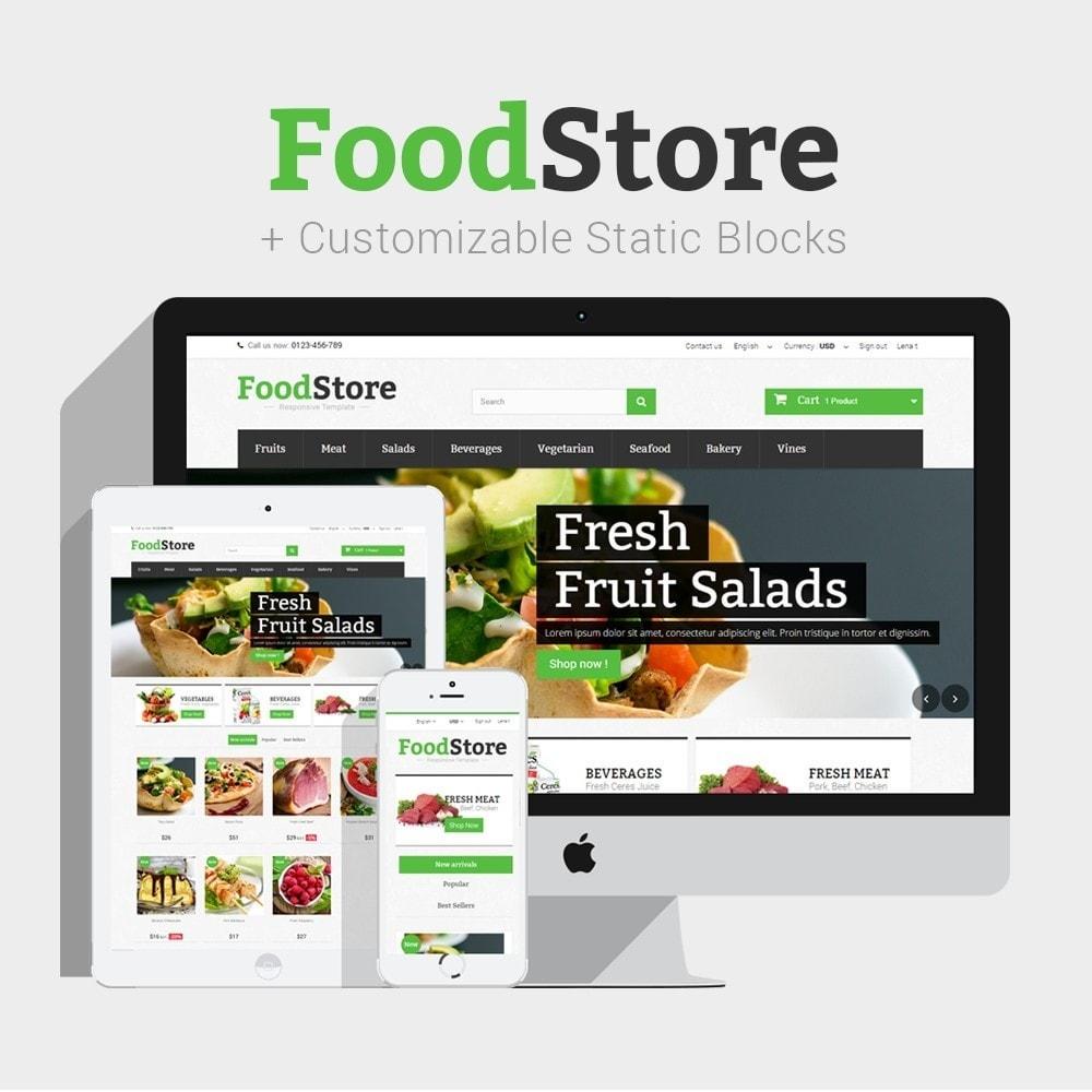 Food Store Prestashop 1.6 Responsive