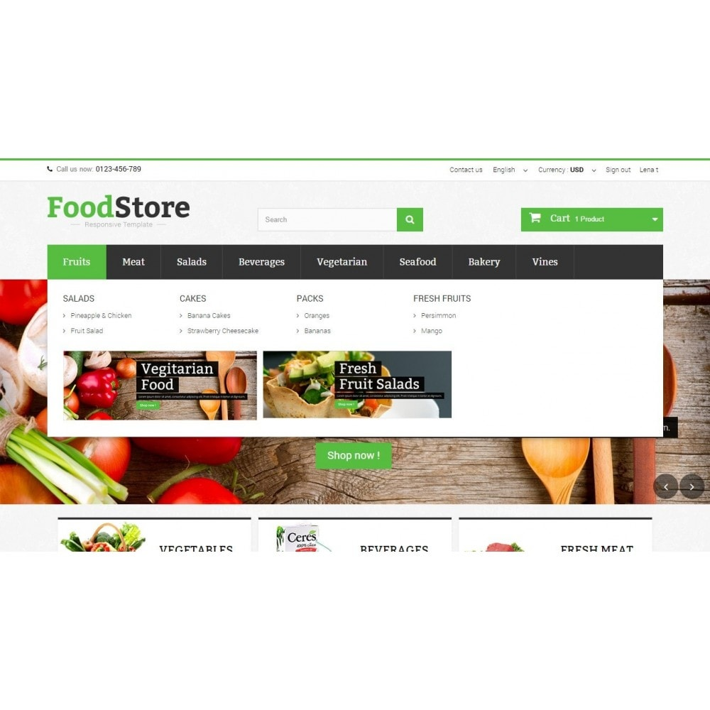 theme - Lebensmittel & Restaurants - Food Store Prestashop 1.6 Responsive - 5