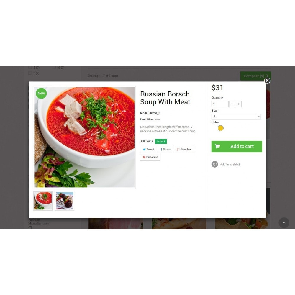 theme - Lebensmittel & Restaurants - Food Store Prestashop 1.6 Responsive - 7