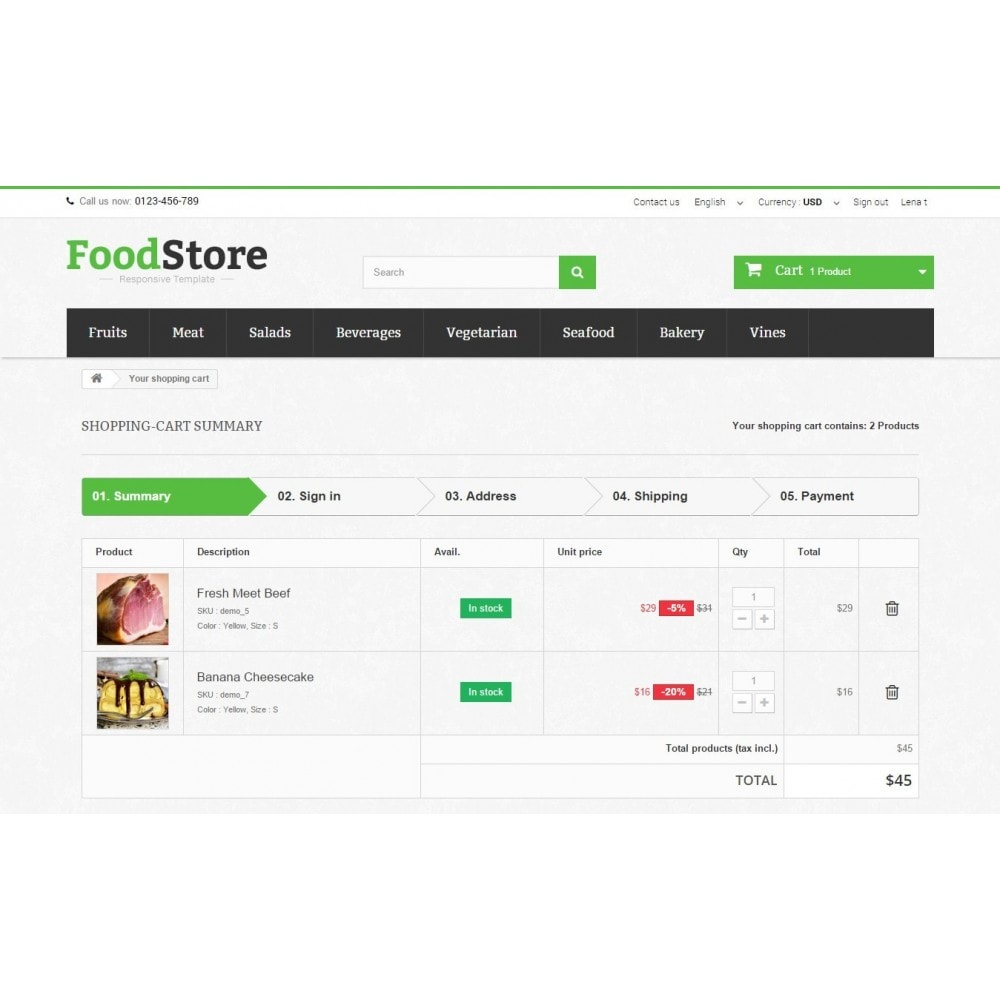 theme - Alimentation & Restauration - Food Store Prestashop 1.6 Responsive - 9