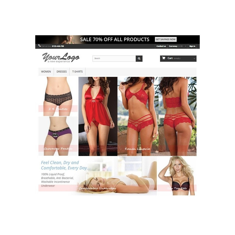 module - Personalizacja strony - Responsive Homepage Layout 3 - Lingerie - 1