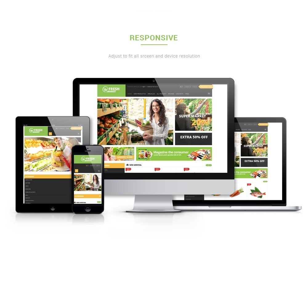 theme - Żywność & Restauracje - Leo Fresh Market - 1