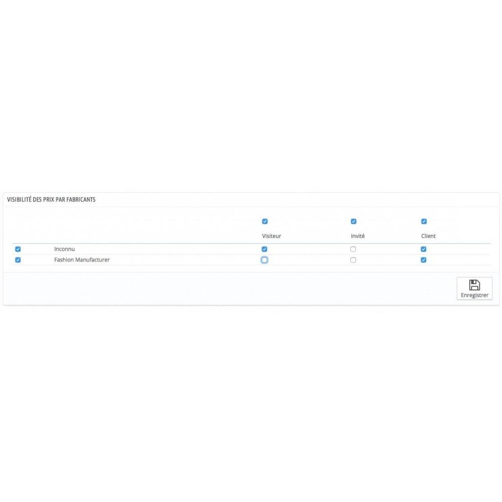 module - Gestion des Prix - Règles affichage du prix par groupe de client - 3