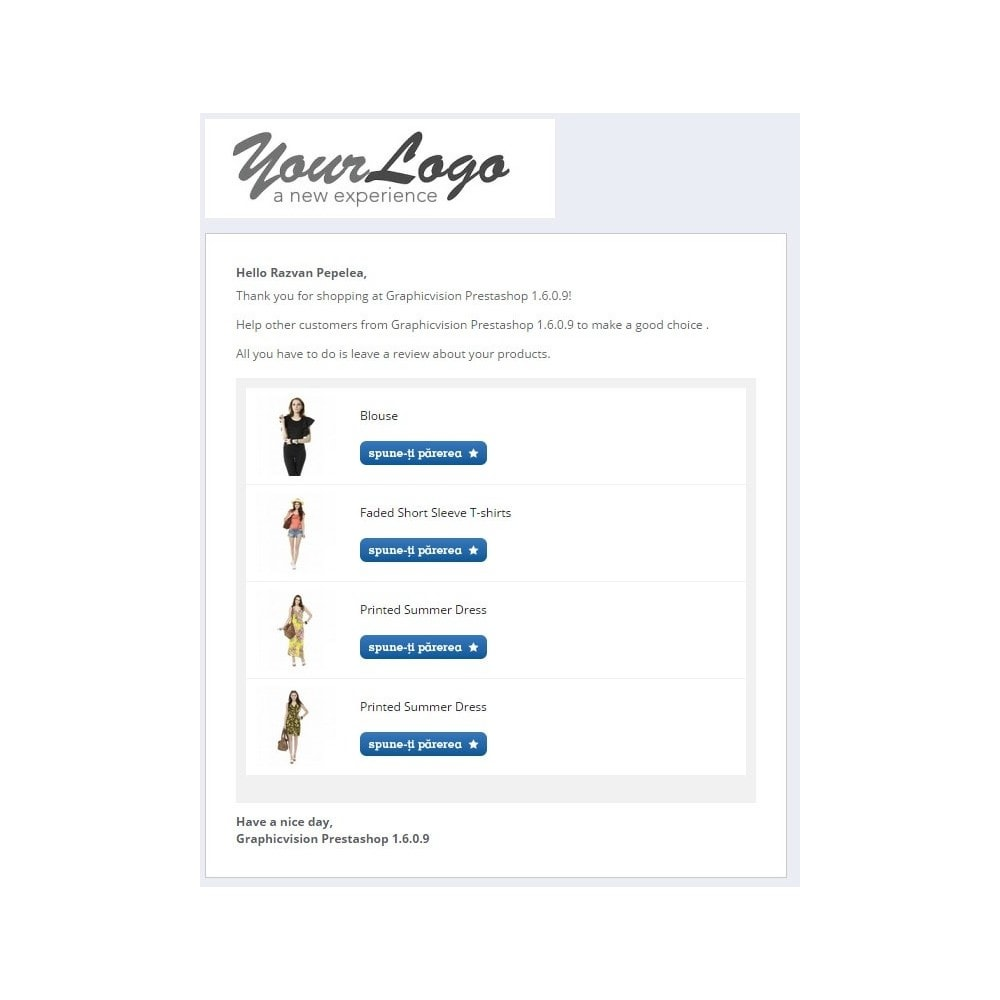 module - Comentarios de clientes - Reviews, Comments Email Reminder with reward Discounts - 2