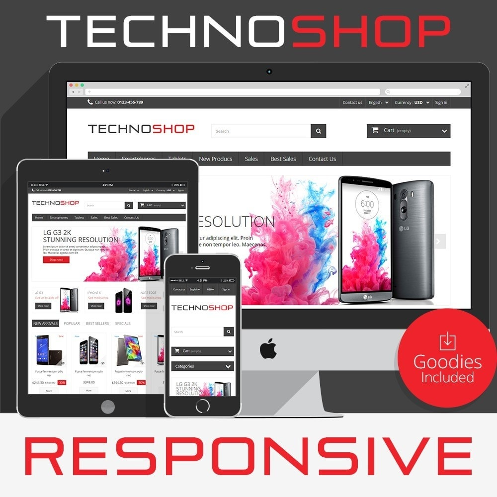 theme - Elektronika & High Tech - TechnoShop - 1