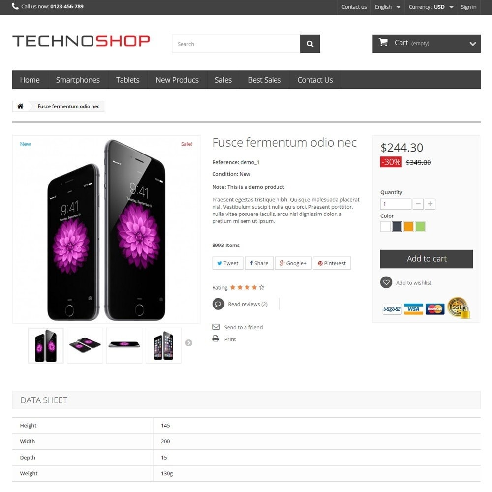theme - Elektronika & High Tech - TechnoShop - 7