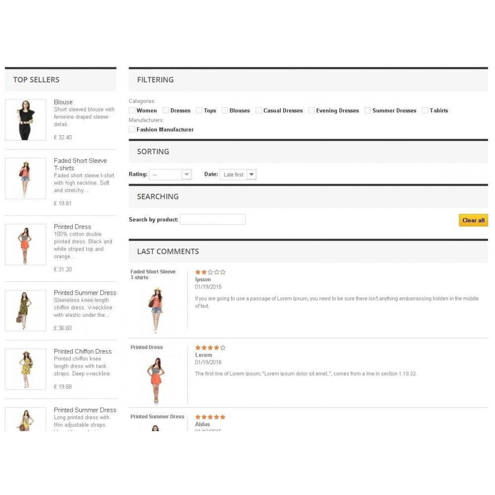 module - Отзывы клиентов - Модуль списка комментариев товаров c функциями фильтров - 2