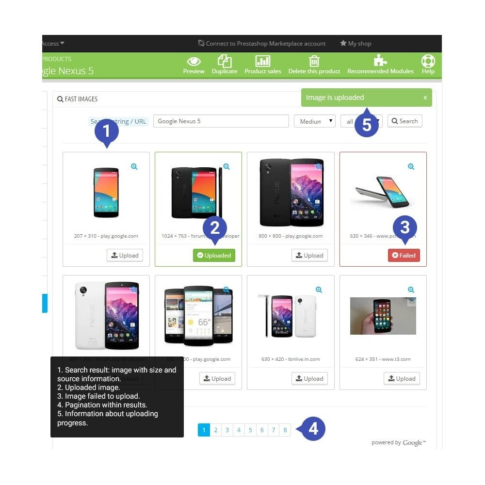 module - Amministrazione - Fast Images, Search & Upload - 1