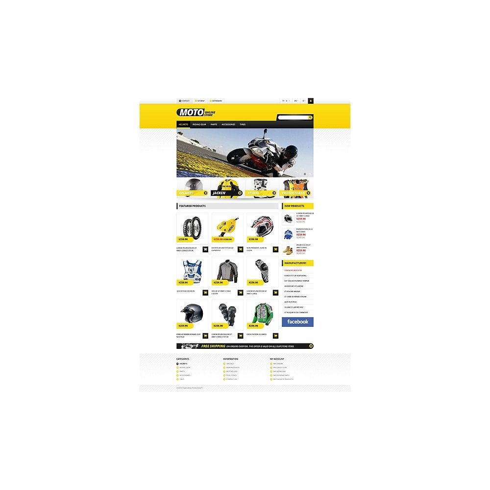 theme - Coches y Motos - Responsive Online Moto Store - 2