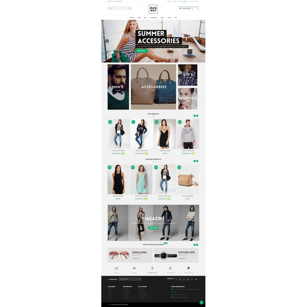 theme - Mode & Chaussures - Runway Fashion Responsive Prestashop 1.6 - 2