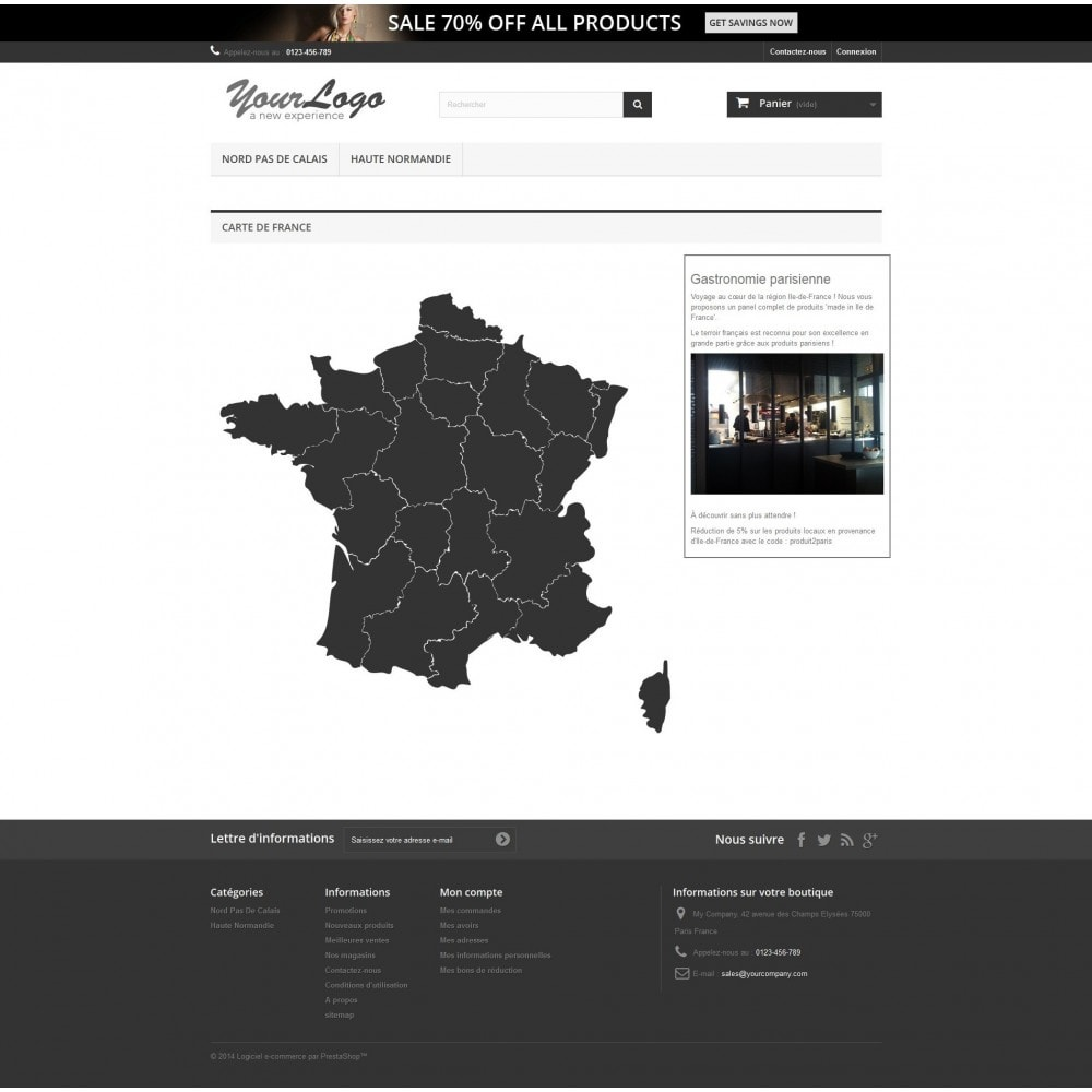 module - International & Localisation - Carte de France interactive et Responsive Design - 1