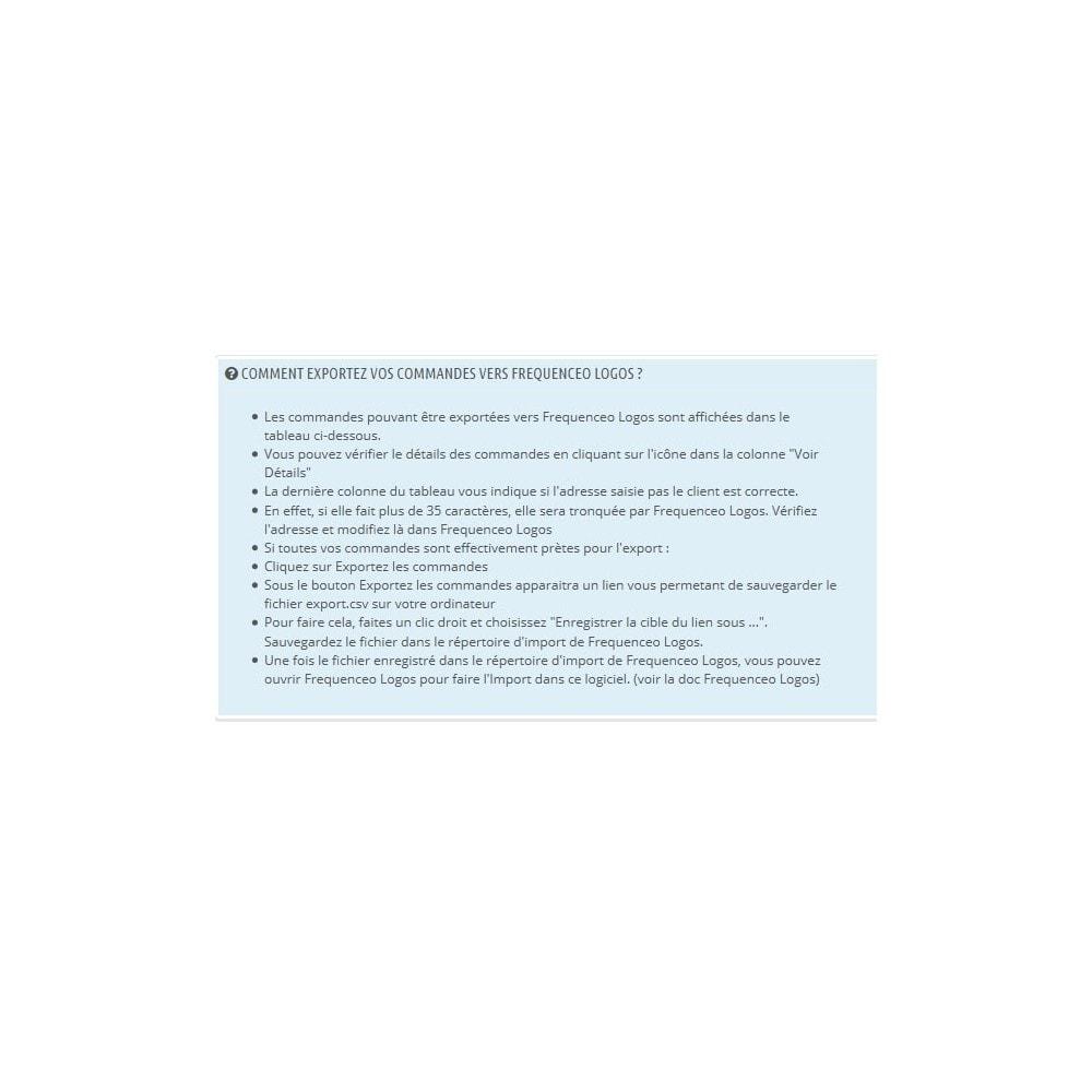 module - Préparation & Expédition - Prestashop vers Frequenceo Logos - 2